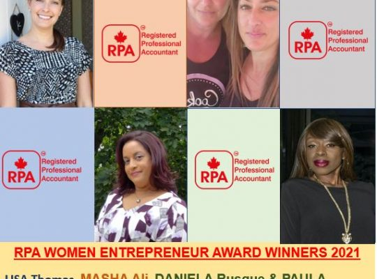 2021 RPA Women Entrepreneur Award recipients